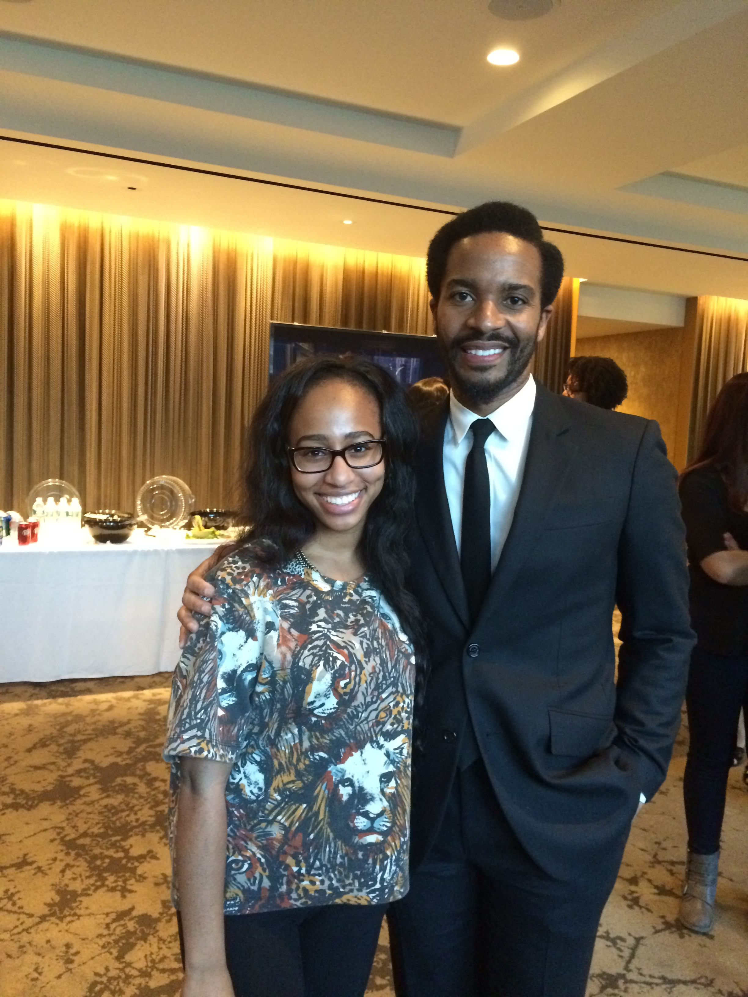 "Tamara Hall with Andre Holland (from Cinemax's (and HBO company) ""The Knick"""